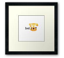 Hello Cute Old Telephone Framed Print
