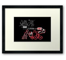 We Reject Your Cannon (Red Version) Framed Print