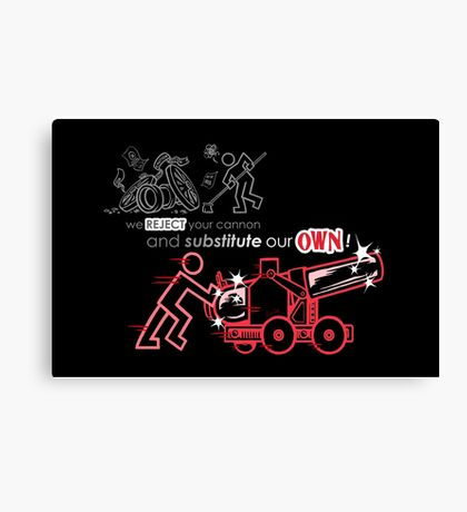 We Reject Your Cannon (Red Version) Canvas Print