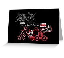 We Reject Your Cannon (Red Version) Greeting Card