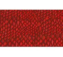 Game of Thrones - Red Dragon Scales Photographic Print