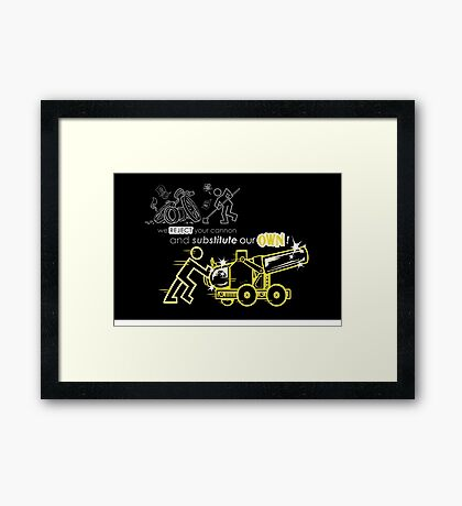 We Reject Your Cannon (Yellow Version) Framed Print
