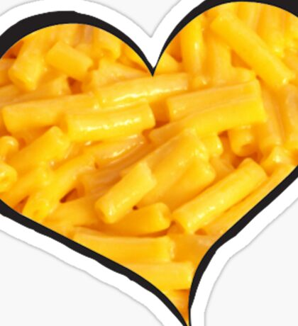 Mac N Cheese Heart Sticker