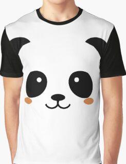 Cute Panda Face Graphic T-Shirt