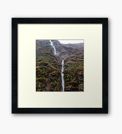 Treble Cone Waterfall 1 Framed Print