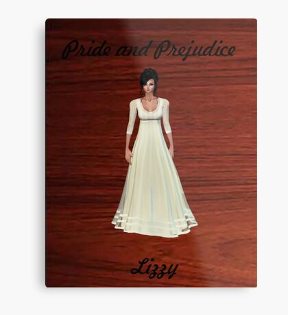 Lizzy Bennet from Pride and Prejudice Metal Print