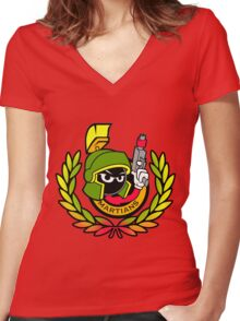Marvin Martians Squad Women's Fitted V-Neck T-Shirt