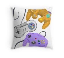 Nintendo Controller Evolution Throw Pillow