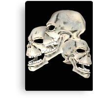 Three Skull T_shirt Canvas Print