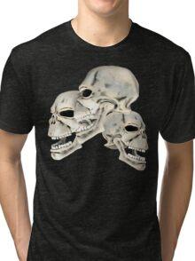 Three Skull T_shirt Tri-blend T-Shirt