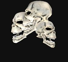 Three Skull T_shirt Hoodie