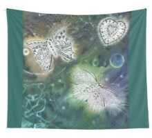 Solar Print and Tangled Butterflies  Wall Tapestry