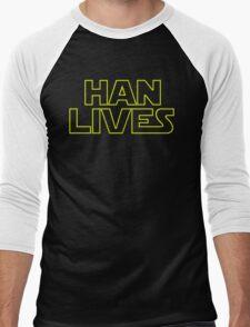 Han Lives Men's Baseball ¾ T-Shirt