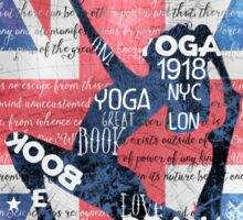 London Yoga Sticker