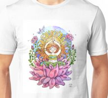 Yoga flowe girl Unisex T-Shirt
