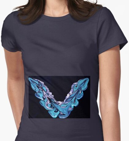 """Electric """"V"""" Womens Fitted T-Shirt"""