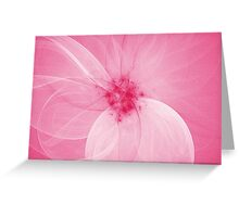 Pink Fairy Blossom Fractal Greeting Card