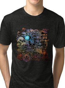 Skull Galaxy Collage Tri-blend T-Shirt