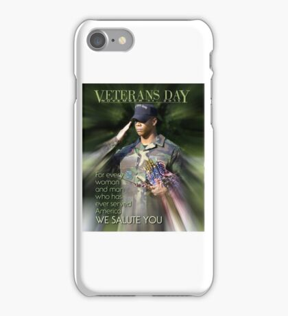 Veterans Day 2016 Poster iPhone Case/Skin