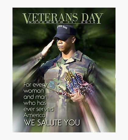 Veterans Day 2016 Poster Photographic Print