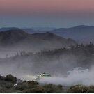 Desert Rally Sunset Landscape by ponycargirl