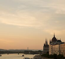 Sun sets over Budapest by Amber Elen-Forbat