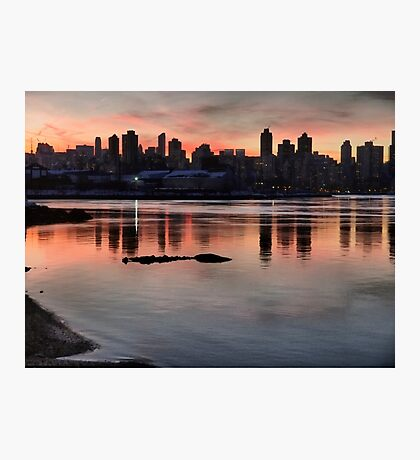 January Sunset Photographic Print