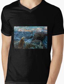 Sea kitten Mens V-Neck T-Shirt