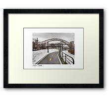 Astoria Footpath Framed Print