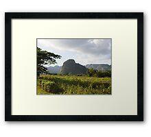 Mogote in Valle de Viñales, Cuba Framed Print