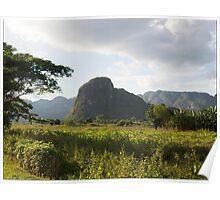 Mogote in Valle de Viñales, Cuba Poster