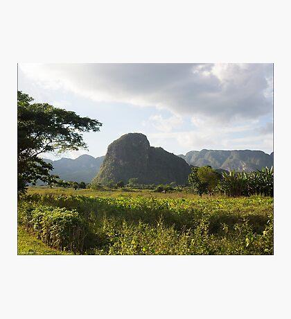 Mogote in Valle de Viñales, Cuba Photographic Print