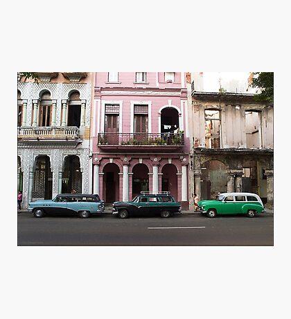 Three Wagons, Havana Photographic Print