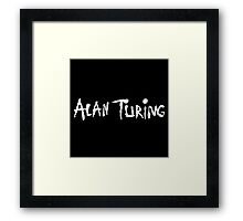 Alan Turing / Alice In Chains (Monsters of Grok) Framed Print