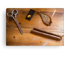 Hand Wrapped Cigars Canvas Print