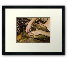 Tobacco Worker's Hands Framed Print
