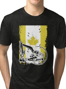 Heavy Equipment Operator In Canada Tri-blend T-Shirt