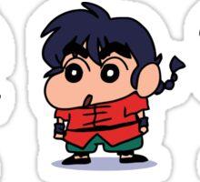 Ranma Shin Chan parody Sticker