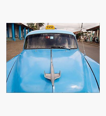 Blue Taxi - Vinales Photographic Print