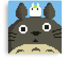 Pixel Totoro Canvas Print