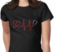 Nurse Heartbeat Womens Fitted T-Shirt