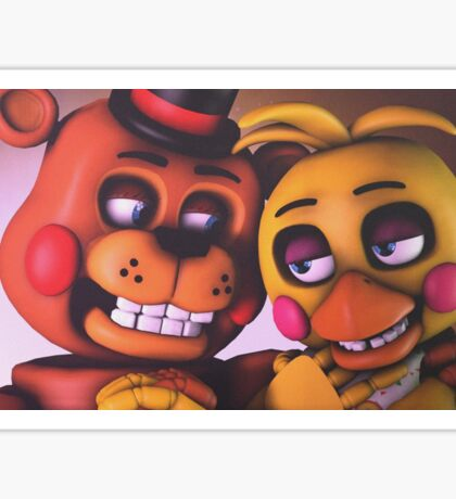Freddy and Chica Sticker