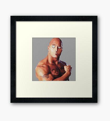 One Rock Man - Parody Framed Print