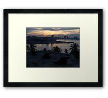 The Sun Also Sets Over Havana Framed Print