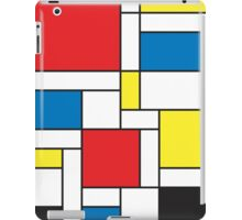 Geometric Grids and Boxes in Bold Colors (Mondrian Style) iPad Case/Skin