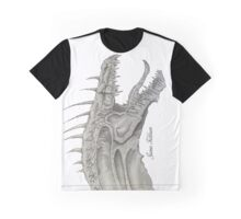 Long Necked Dragons Face Graphic T-Shirt