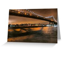 The Lights of the Triborough Bridge Greeting Card