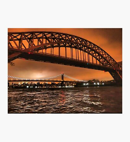 The Two Bridges of Astoria Photographic Print