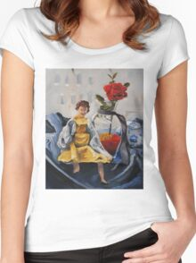 Doll by the Window Women's Fitted Scoop T-Shirt