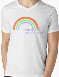 Smile If You're Gay Mens V-Neck T-Shirt